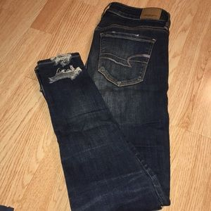 Dark Ripped American Eagle jeans